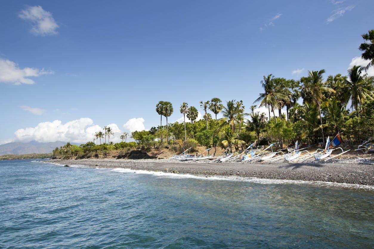 tulamben village exotic beach