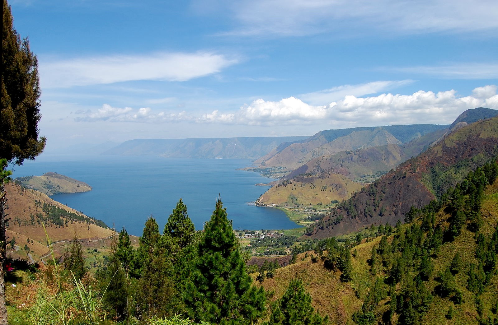 Toba Lake view from Tongging Village