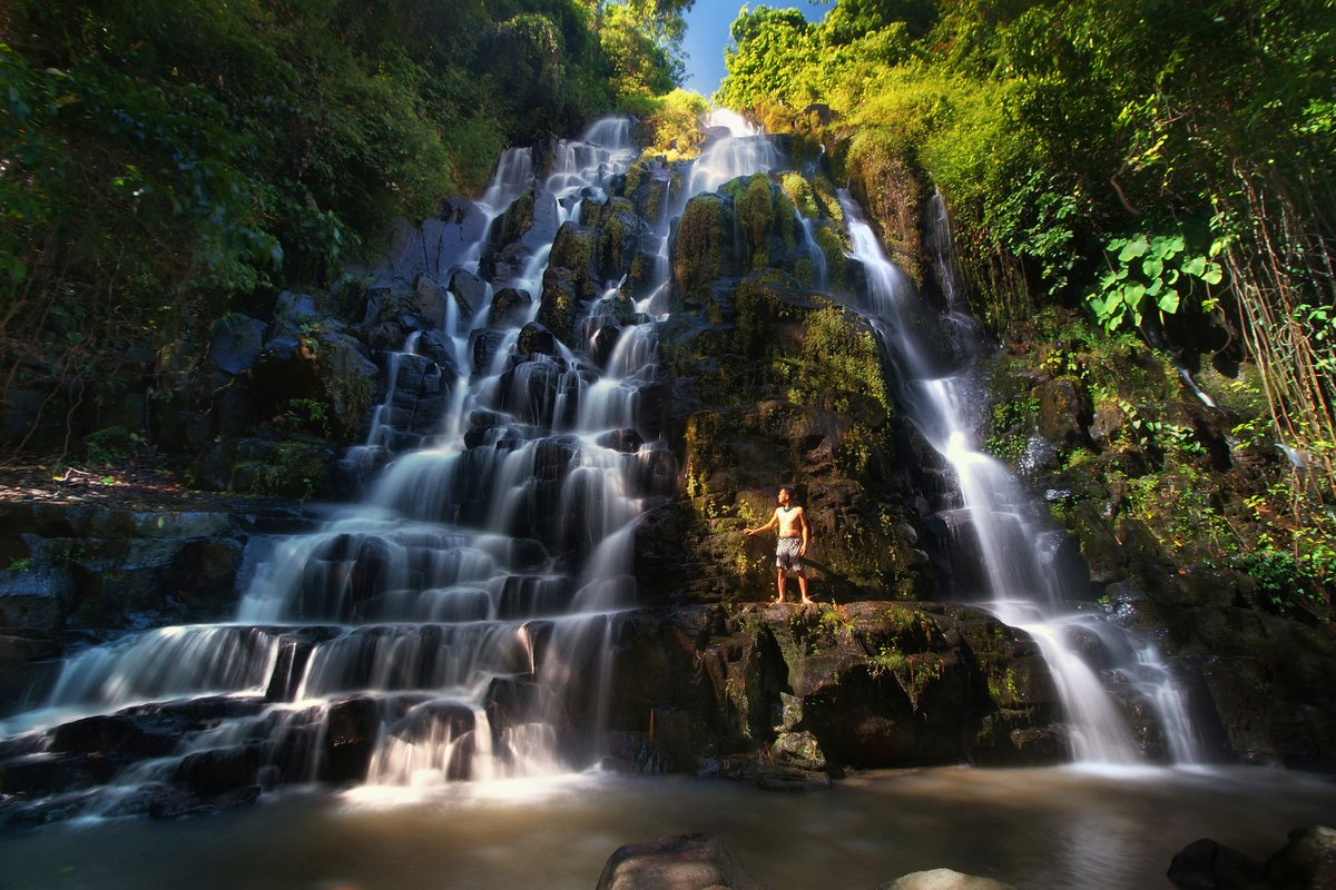 the sensation of the fantastic Buluh Waterfall