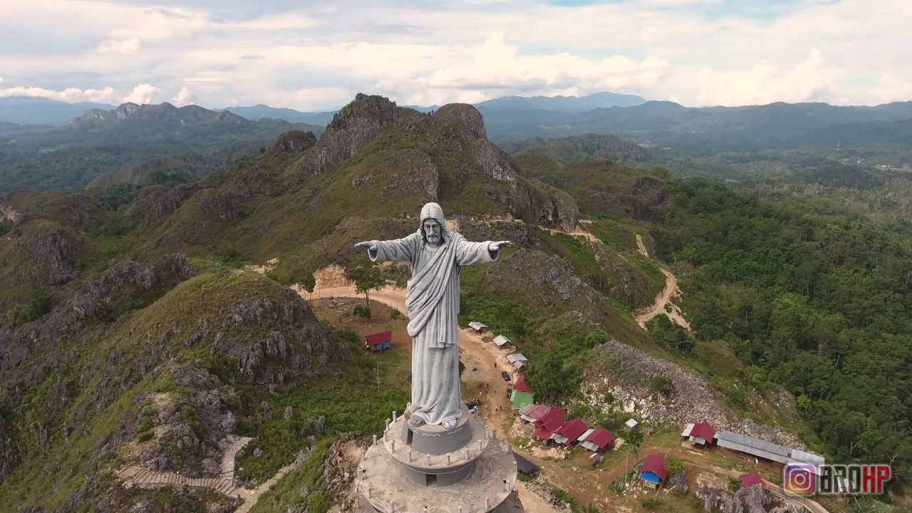 Jesus Christ Blessing Statue is located in Tana Toraja