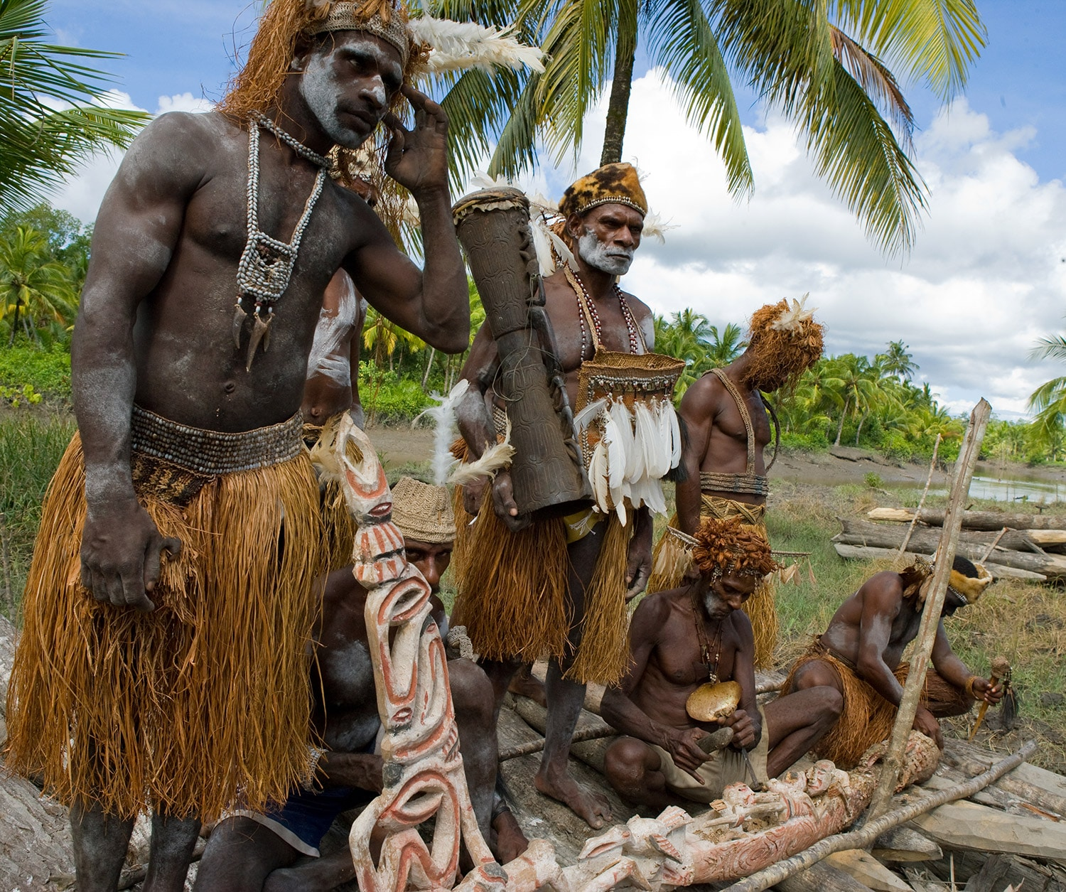 daily live of asmat community in papua