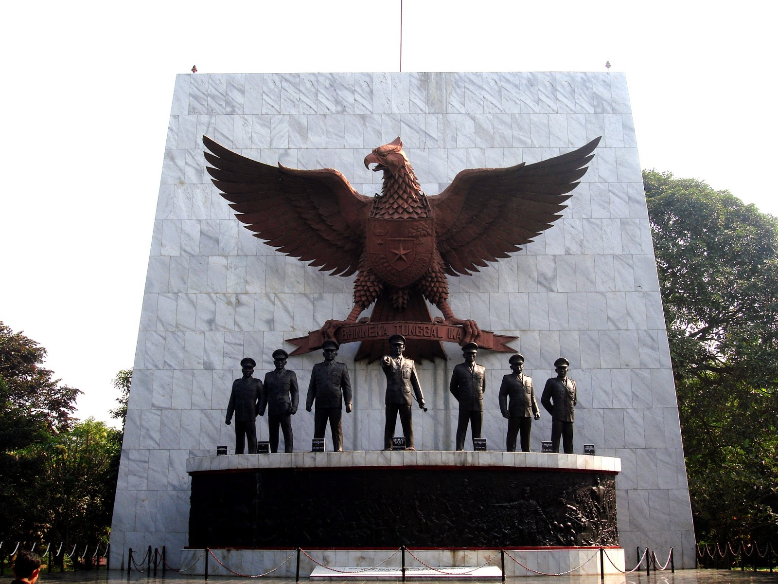 historical and iconic statue in Indonesia is the Pancasila Sakti Monument
