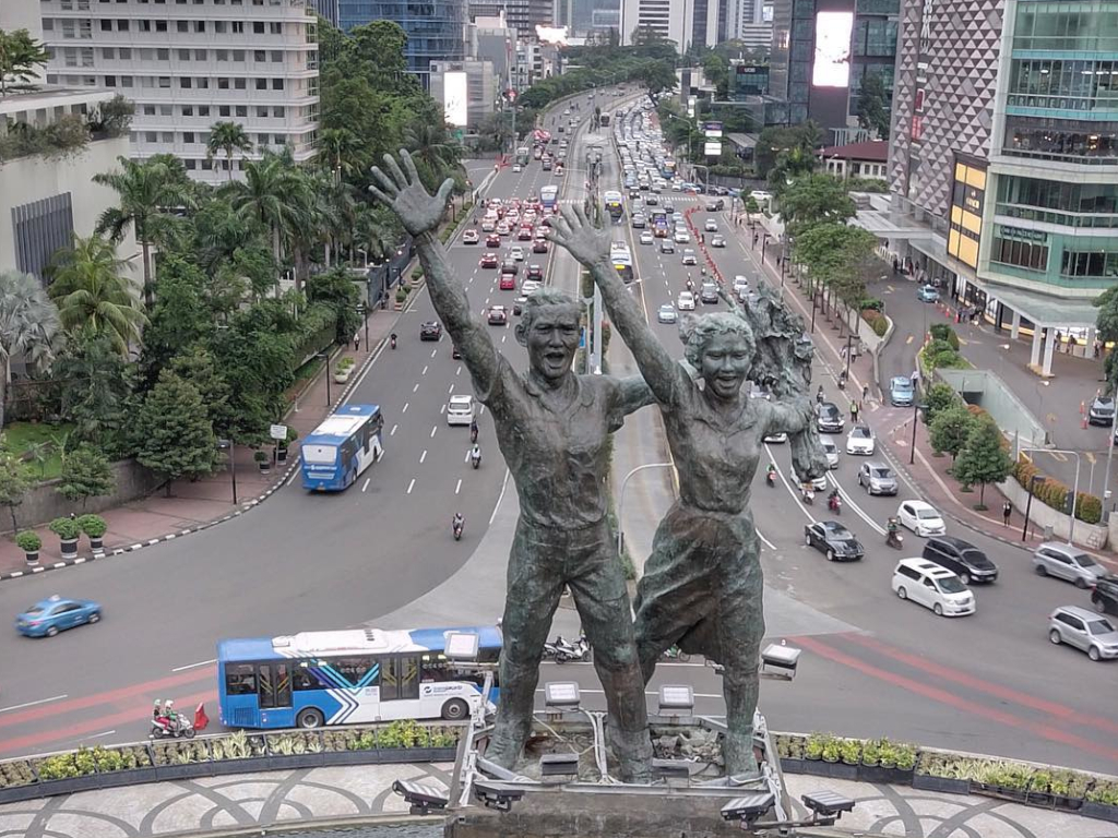 the Welcome Monument in Jakarta