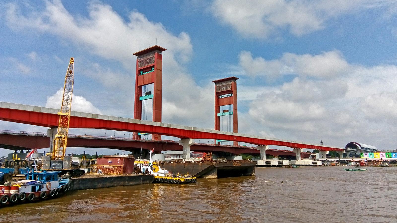 ampera bridge in palembang