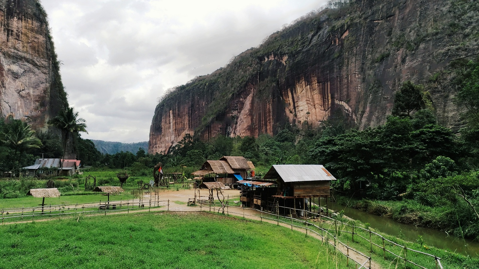 harau hill is surrounded by colorful steep granite stones