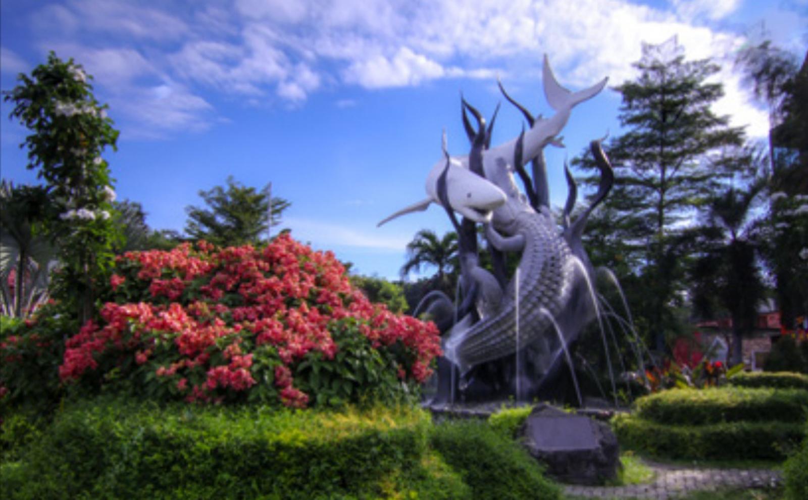 the Sura and Baya Fish Statue